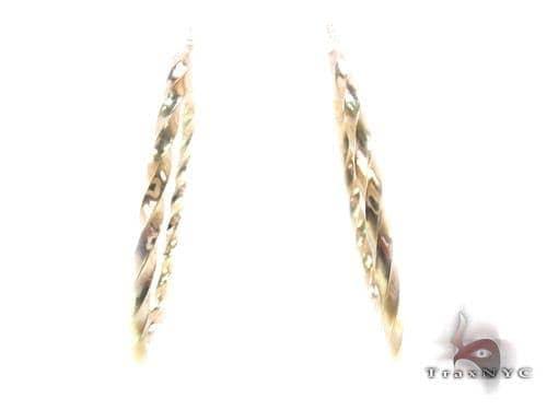 10K Gold Hoop Earrings 34738 Metal