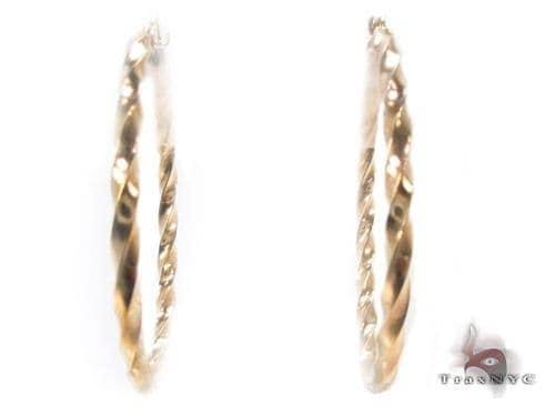 10K Gold Hoop Earrings 34739 Metal