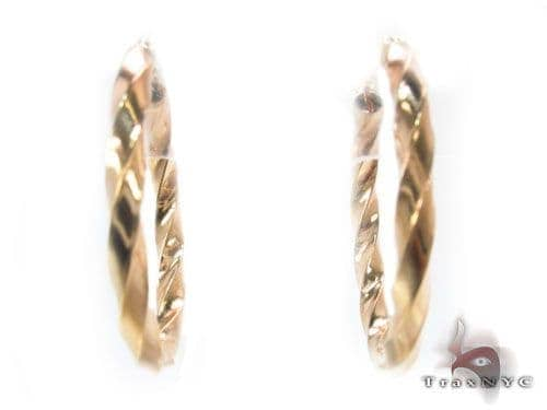 10K Gold Hoop Earrings 34741 Metal