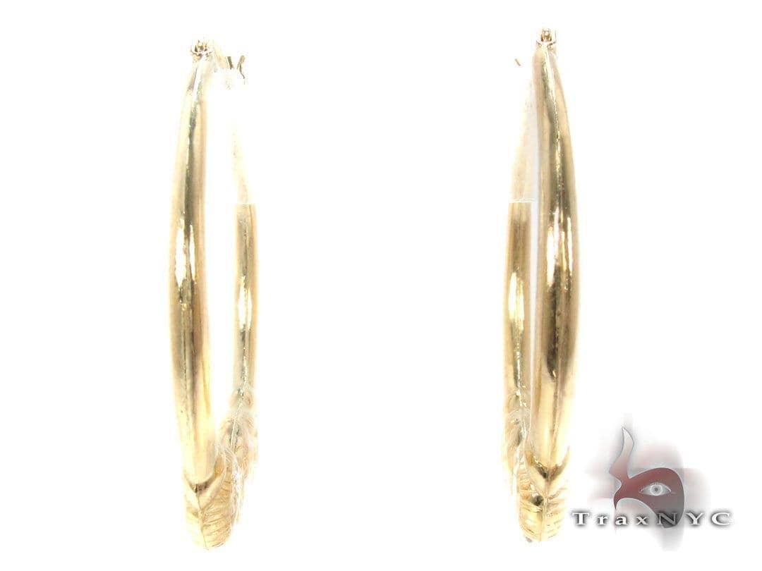 10K Gold Hoop Earrings 34743 Metal