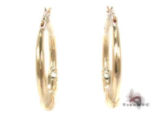 10K Gold Hoop Earrings 34745 Metal