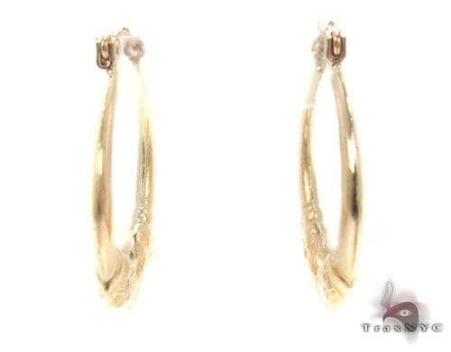 10K Gold Hoop Earrings 34746 Metal