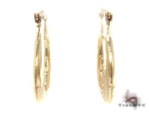 10K Gold Hoop Earrings 34749 Metal