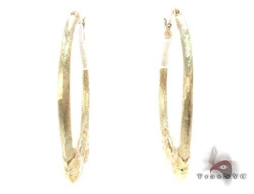 10K Gold Hoop Earrings 34750 Metal