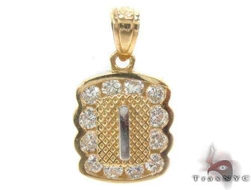 CZ 10K Gold Pendant 34832 Metal