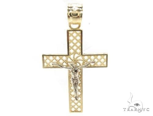 10k Gold Cross Crucifix 34853 Gold