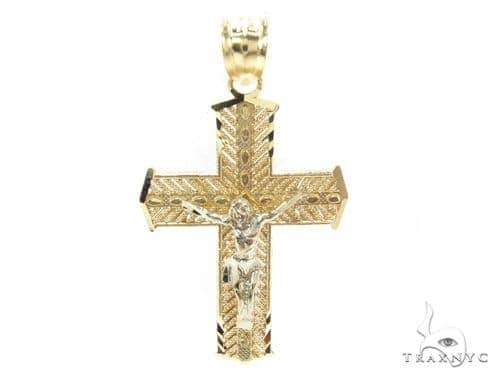 10k Gold Cross Crucifix 34854 Gold