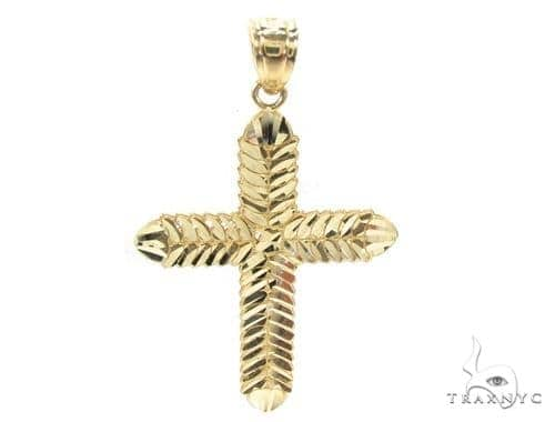 10k Gold Cross Crucifix 34859 Gold