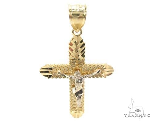 10k Gold Cross Crucifix 34873 Gold