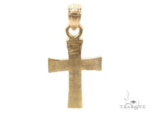 10k Gold Cross Crucifix 34879 Gold