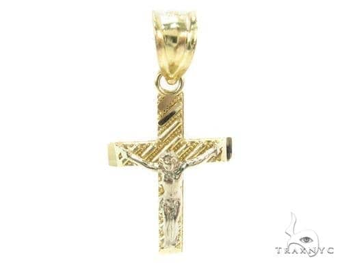 10k Gold Cross Crucifix 34883 Gold