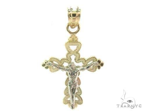 10k Gold Cross Crucifix 34891 Gold
