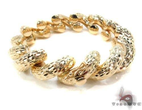 14K Gold Twist Bracelet 34952 Gold
