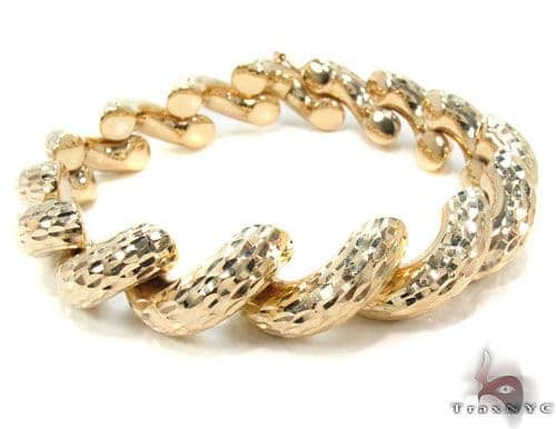 14K Gold Twist Bracelet 34953 Gold