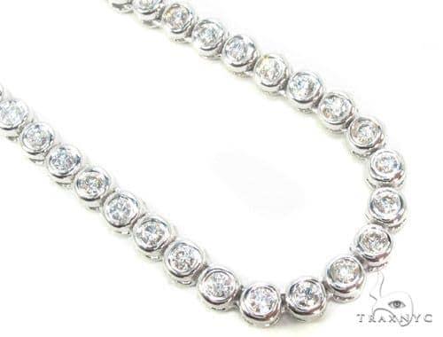Bezel Diamond Chain 28 Inches 5mm 53.4 Grams Diamond