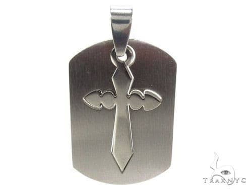 Stainless Steel Cross Crucifix Pendant 35204 Metal
