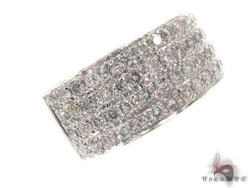 4 Row Prong Diamond Ring 35242 Style