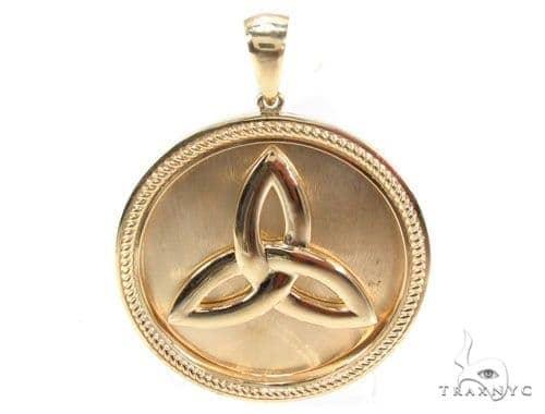 14K Gold Trinity Knot Pendant 35269 Metal