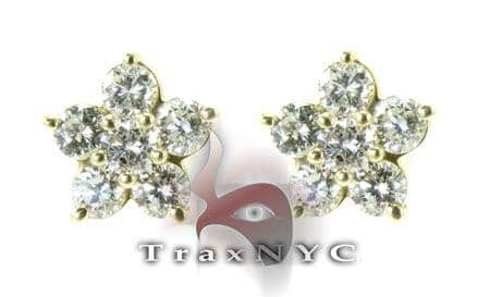 Gold Star Earrings 2 Stone