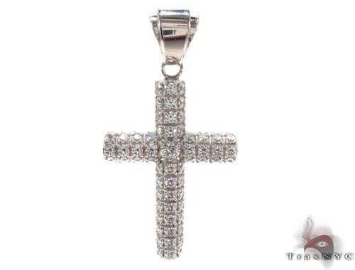 CZ Silver Cross Crucifix 35530 Silver