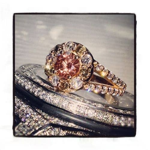 Custom Champagne Diamond Ring 35541 Anniversary/Fashion