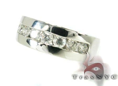 Mens 8 Channel Wedding Band Style