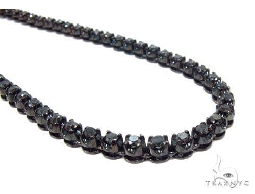 Prong Black Diamond Chain 26 Inches 4mm 64.70 Grams 35669 Diamond