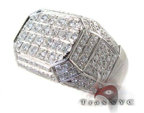 Mens 17 Faced Ring Stone
