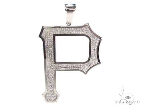 Custom P Initial Pendant Style