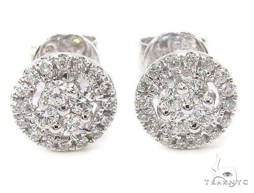 Prong Diamond Earrings 35918 Stone