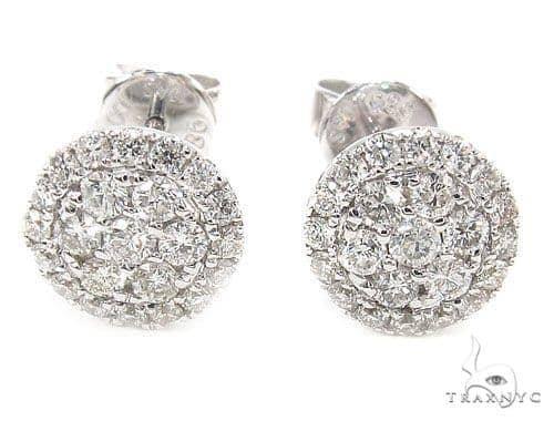 Prong Diamond Earrings 35921 Stone