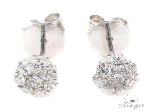 Prong Diamond Earrings 35923 Stone