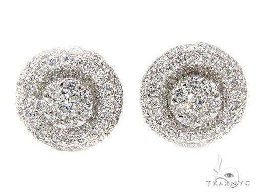 Prong Diamond Earrings 35931 Stone