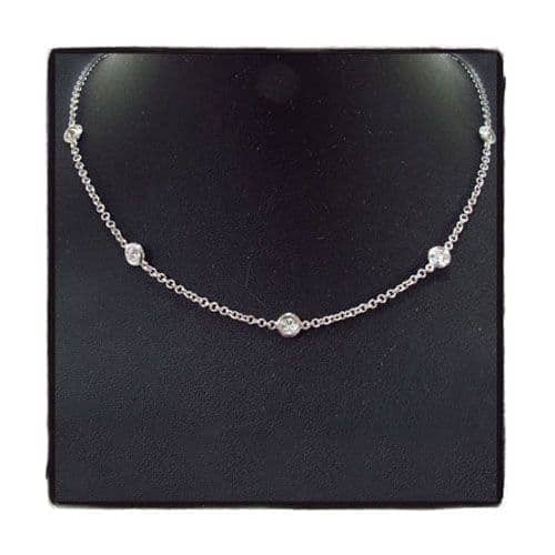 Bezel Diamond Necklace Diamond