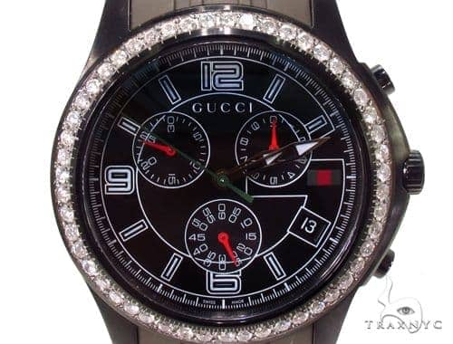 Mens Gucci Timeless Chrono Diamond Watch Gucci