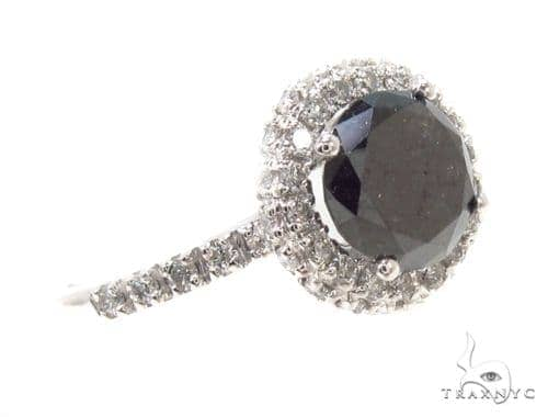 Prong Black Diamond Ring 36000 Engagement