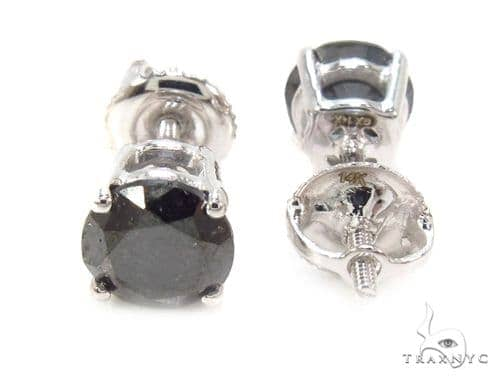 Prong Black Diamond Earrings 36019 Stone