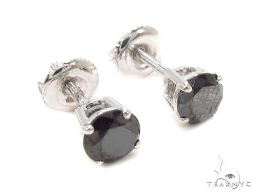 Prong Black Diamond Earrings 36021 Stone