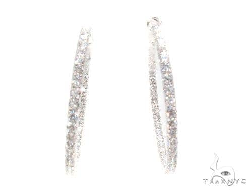 Prong Diamond Hoop Earrings 36101 Style