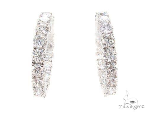 Prong Diamond Hoop Earrings 36110 Style