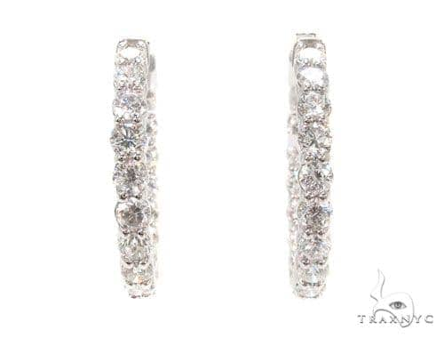 Prong Diamond Hoop Earrings 36111 Style