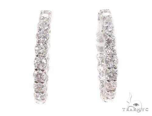 Prong Diamond Hoop Earrings 36112 Style