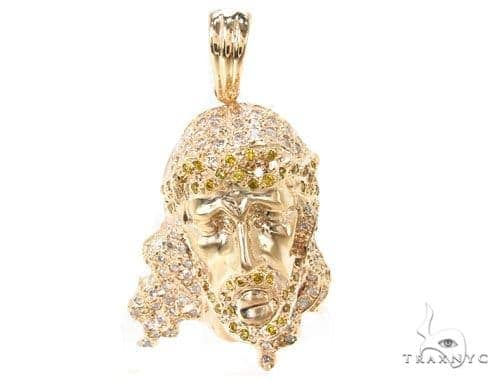 Diamond Jesus Head Pendant 36241 Style