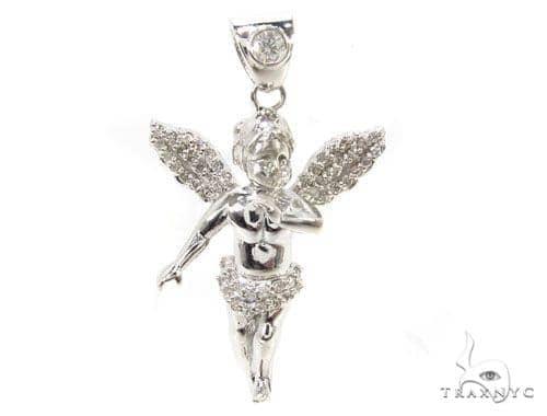 Little Prong Diamond Angel Pendant 36306 Stone
