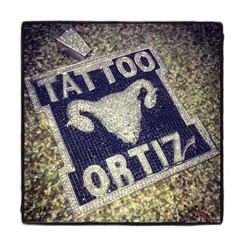 Custom Silver Tattoo Ortiz Pendant Metal
