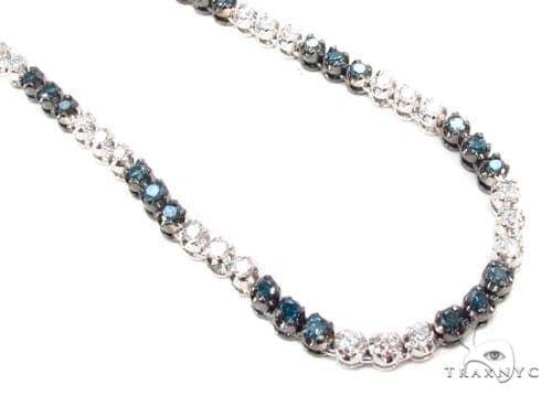 Prong Diamond Chain 40 Inches 4mm 77 Grams Diamond