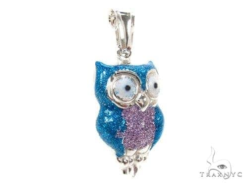 Owls Silver Pendant 36344 Metal