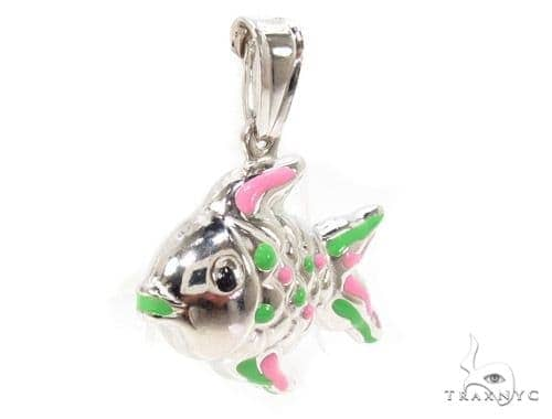 Fish Silver Pendant 36375 Metal