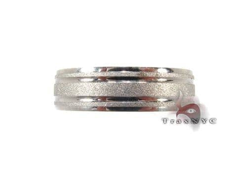 White Gold 3 Strip Band Style