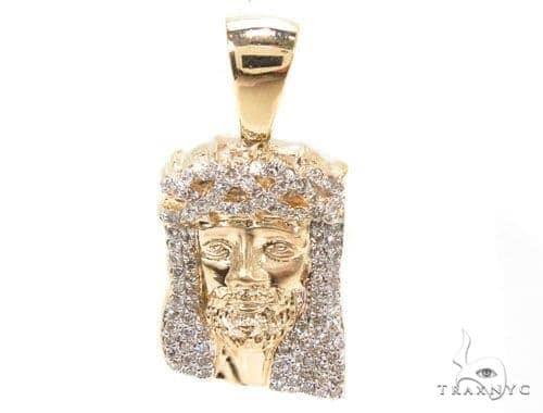 Diamond Jesus Head Pendant 36469 Style